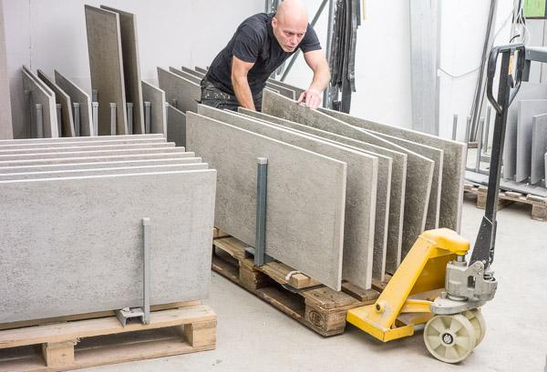 gjutning av betongbord