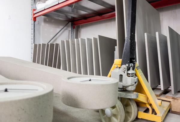 gjutning betongbord